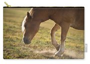 Horse Pawing In Pasture Carry-all Pouch by Steve Gadomski