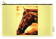 horse portrait PRINCETON brown tones Carry-all Pouch