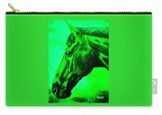horse portrait PRINCETON green Carry-all Pouch