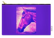 horse portrait PRINCETON pink Carry-all Pouch