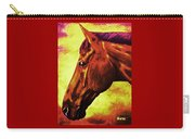 horse portrait PRINCETON purple brown yellow Carry-all Pouch