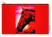horse portrait PRINCETON red hot Carry-all Pouch