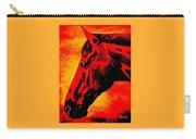 horse portrait PRINCETON sunset Carry-all Pouch