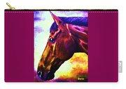 horse portrait PRINCETON wow purples Carry-all Pouch
