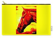 horse portrait PRINCETON yellow and red Carry-all Pouch