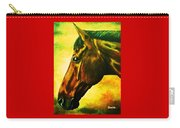 horse portrait PRINCETON yellow Carry-all Pouch