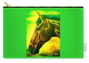 horse portrait PRINCETON yellow green Carry-all Pouch