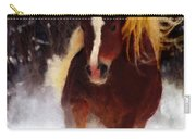 Horse Running In Snow Carry-all Pouch