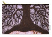 Horse Sleeps Below Tree Of Rebirth Carry-all Pouch by Carol  Law Conklin