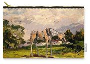 Horse Statue In The Field Carry-all Pouch