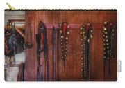 Horse Trainer - Jingle Bells Carry-all Pouch by Mike Savad