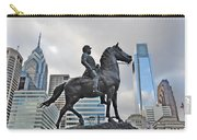 Horseman Between Sky Scrapers Carry-all Pouch by Bill Cannon
