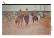 Horseman On The Beach Carry-all Pouch