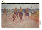 Horseman On The Beach Carry-all Pouch by Paul Gauguin