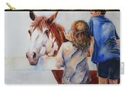Horses And Children Painting Carry-all Pouch