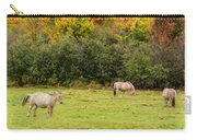 Horses Enjoying A Beautiful Autumn Day Carry-all Pouch