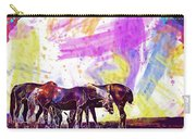 Horses Flock Pasture Animal  Carry-all Pouch