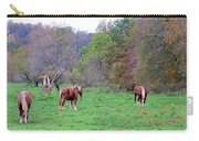 Horses In Autumn Amish Country Carry-all Pouch