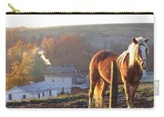Horses In Autumn Frosty Sunrise Carry-all Pouch