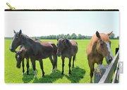 Horses In Bridgehampton Carry-all Pouch