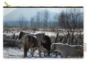 Horses In Front Of Quaggy Jo Carry-all Pouch