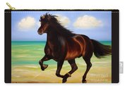 Horses In Paradise  Run Carry-all Pouch