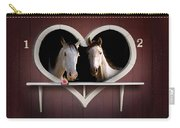Horses In Stable Carry-all Pouch