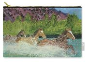 Horses In Stream Carry-all Pouch
