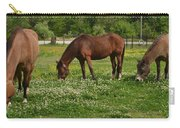Horses In The Meadow 2 Carry-all Pouch