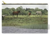 Horses On Ireland's River Shannon Carry-all Pouch