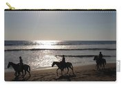Horses On The Beach Carry-all Pouch