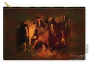 Horses Paintings 34b Carry-all Pouch