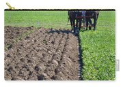 Horses Plowing Rows  Carry-all Pouch