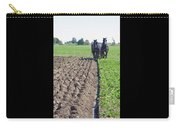 Horses Plowing Rows Two  Carry-all Pouch