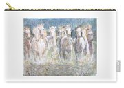 Horses Running In Water Carry-all Pouch