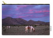 Horses With New Mexico Sunset Carry-all Pouch