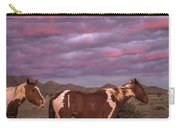 Horses With Southwest Sunset Carry-all Pouch