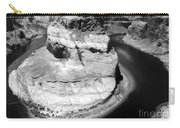Horseshoe Bend Black And White Carry-all Pouch