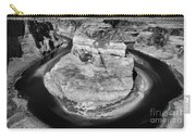 Horseshoe Bend Black White  Carry-all Pouch