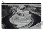 Horseshoe Bend In Black And White Carry-all Pouch