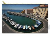 Horseshoe Pattern Of Moored Boats At The Inner Harbour Of Piran  Carry-all Pouch