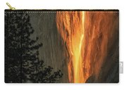 Horsetail Falls In Yosemite National Park Carry-all Pouch