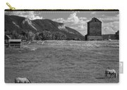 Horses Grazing At Mancos Grain Elevator Carry-all Pouch