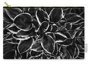 Hosta In Black And White Carry-all Pouch