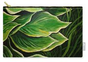 Hostas And Grass Painting Carry-all Pouch
