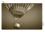 Hot Air Balloon And Bucket In Sepia Tone Carry-all Pouch