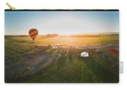 Hot Air Balloon Taking Off At Sunrise Carry-all Pouch