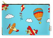 Hot Air Balloons And Airplanes Fly In The Sky Carry-all Pouch