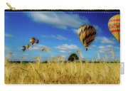 Hot Air Balloons Over A Wheat Field Carry-all Pouch