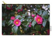 Hot Pink Camellias Glowing In The Shade Carry-all Pouch